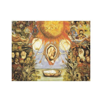 1945 moise him nucleus Frida Kahlo Canvas Print - gift for him present idea cyo design