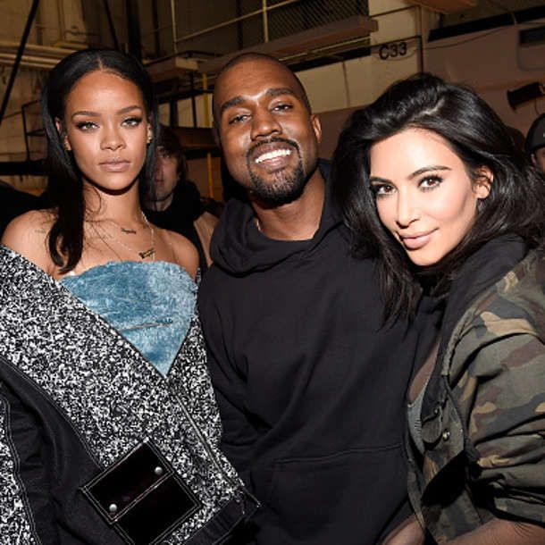 Ehe Krise Mit Kanye West Kim Kardashian Ist Eifersuchtig Auf Rihanna Kardashian Girls Rihanna Kanye West Kim And Kanye