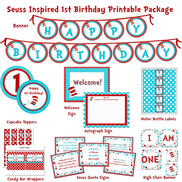 62 best Birthday Printable Party Packages DIY images on Pinterest