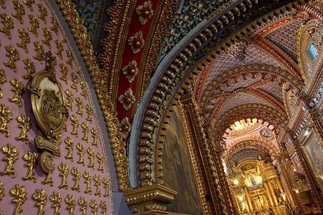 Interior del Santuario de Guadalupe (Templo de San Diego) Morelia