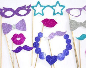 11 les accessoires Photo pièce congelés, surgelés anniversaire, DISNEY Frozen party, accessoires photobooth, Elsa,