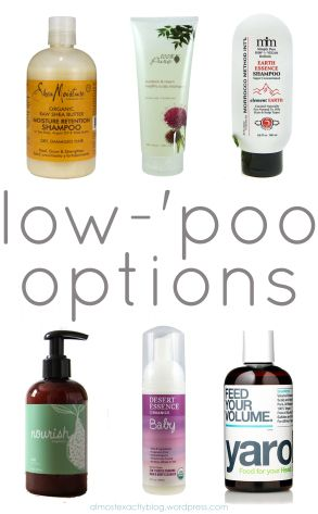 low-'poo options (when no-'poo doesn't work OR you want to ditch those chemicals)
