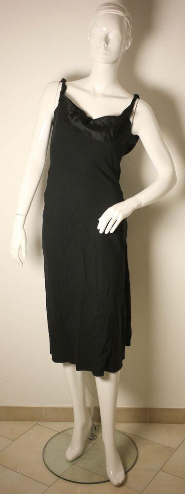 JOHN GALLIANO LADIES BLACK EVENING DRESS-UK 6/8-USED-VERY CHIC/RARE-FREE POSTAGE #JohnGalliano #SpecialOccasion