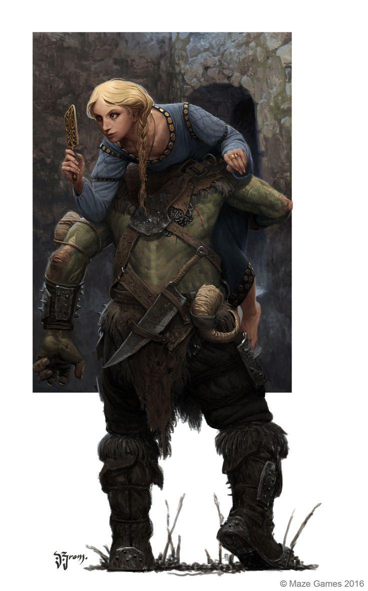 ORCQUEST princesse, Daniel Zrom on ArtStation at https://www.artstation.com/artwork/gB0OE