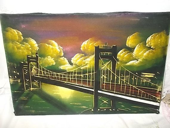 Vintage Velvet Painting Painting of by Daysgonebytreasures on Etsy