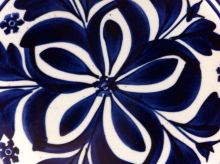 Detail blauw boerenbont