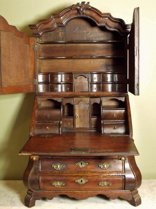 18th C Miniature Bureau Bookcase - Antiques Atlas