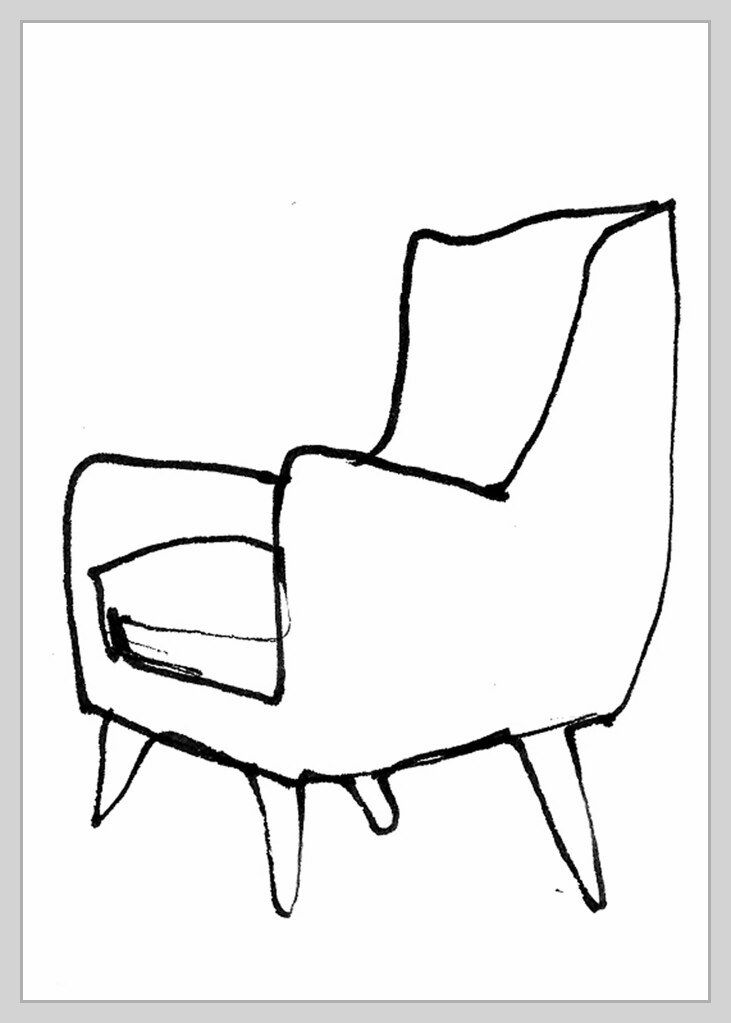 164 Reference Of Chair Drawing Comfy In 2020 Chair Drawing Drawing Furniture Art Chair