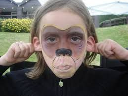 Image result for monkey face paint