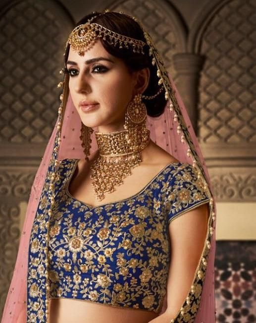 1738bbe7fc Blue And Peach Color Lehenga Odni With Choli in 2019 | Everything Tradition  and Elegant | Lehenga, Party wear lehenga, Indian bridal jewelry sets