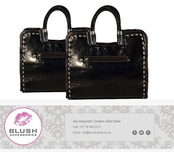 Gorgeous black handbag for the lovely ladies out there. Ladies spoil yourself this weekend. You deserve it! #Blush #Handbags #ItsTheWeekendBaby