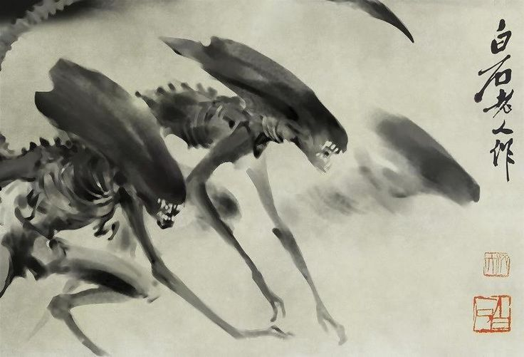 Aliens, Watercolour and Ink paintings on Pinterest
