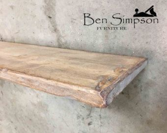 Shabby Chic Floating Shelves Shelf Mantel Thin Wooden Rustic Handmade