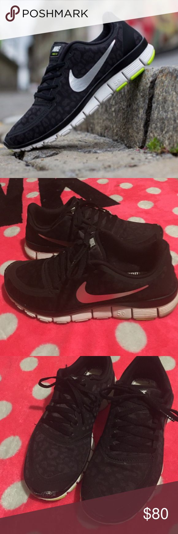 Nike Free 5.0 Black Leopard Nike Free 5.0 Black Leopard Shoes • Women's size 8 • Gently worn and in excellent condition • Hard to find in this color! 💕❤️ Nike Shoes