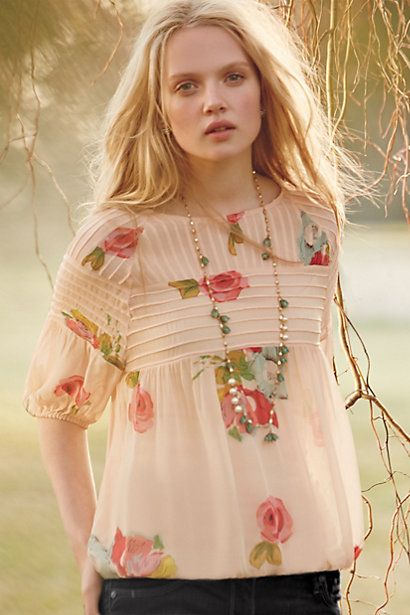 Tea Rose Blouse - anthropologie.com - by One Fine Day