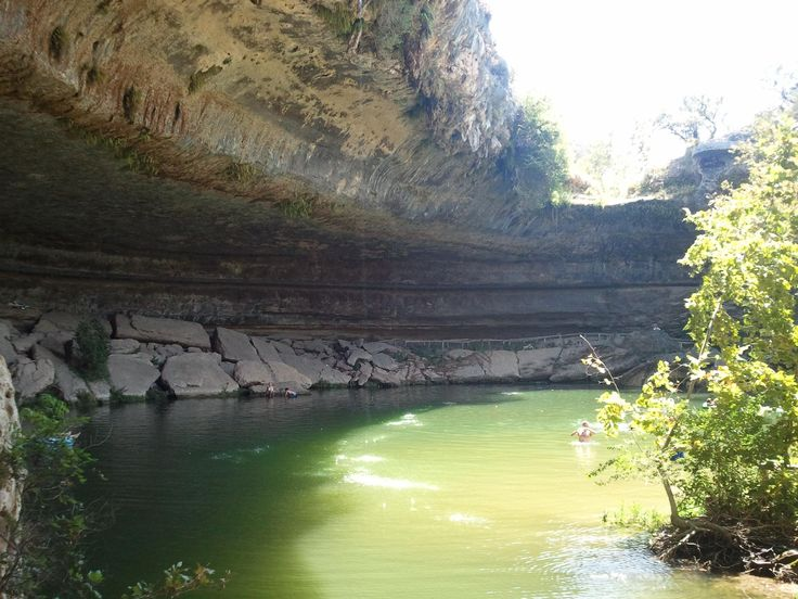 Hamilton Pool, Dripping Springs, TX - One of 14 natural swimming pools featured by Trip Advisor
