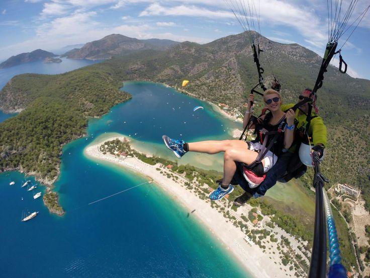 Yamaç paraşütü denince akla gelen en gözde turizm yerlerinden Fethiye Ölüdeniz geliyor. #Maximiles #spor #extreme #sporlar #adrenalin #tehlike