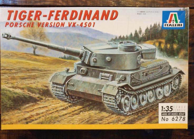 Italeri 1/35 Kit #6278 WW2 German Tiger-Ferdinand Porsche Version Tank