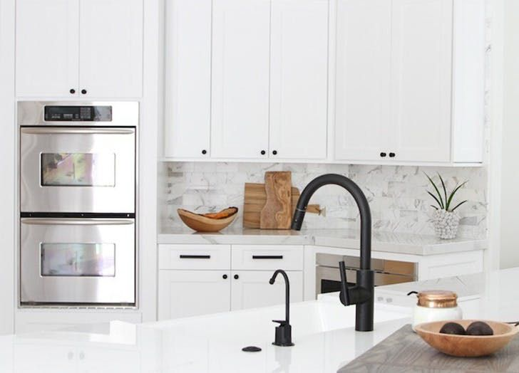 13 Ways To Use Matte Black Hardware In Every Room Black Kitchen Faucets Black Kitchen Handles Black Faucet