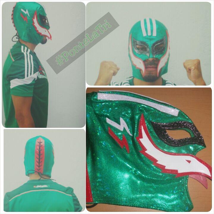 Adquiere al mejor precio tu máscara de #LuchaLibre de la Selección Nacional de #Mexico y diviértete durante el #Mundial #Fifa #Brasil2014 #PonteLaTri #Futbol. http://articulo.mercadolibre.com.mx/MLM-449625866-mascara-de-la-seleccion-mexicana-de-futbol-mundial-brasil-_JM