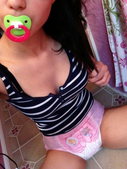 Diaper pig girl wetting diapers 6