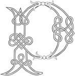 A Celtic Knot-work Capital Letter P Stylized Outline. Raster Version. by Theo Malings, via Shutterstock