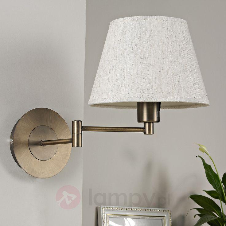 POLA - materiałowa lampa ścienna z wysięgnikiem 9620584