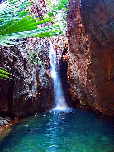 El Questro Gorge Waterfall, El Questro Wilderness Park, WA.