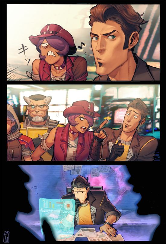Borderlands: The Pre-Sequel! - Jack and his Vault Hunters by kanataria