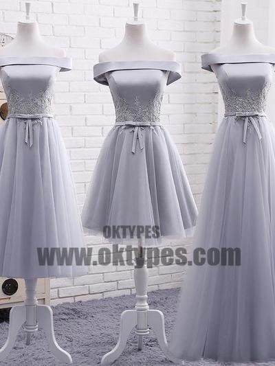 cf34776ae87 Grey Tulle Bridesmaid Dresses