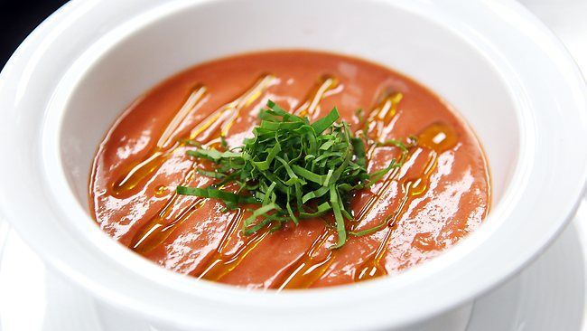 Matt Moran's tomato and basil soup