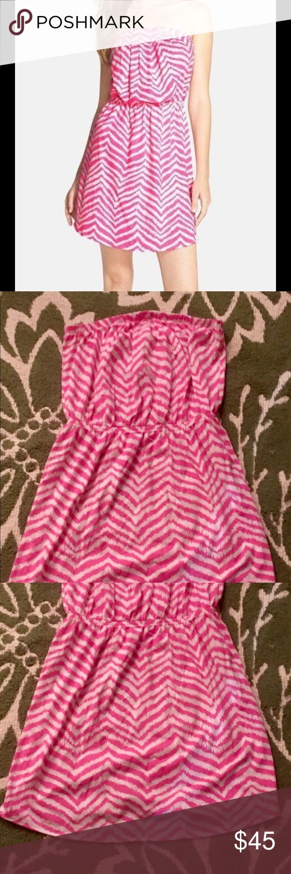 Lilly Pulitzer- Strapless Pink and White Dress Lilly Pulitzer- Strapless Pink and White Dress- Never Worn- Perfect Condition Lilly Pulitzer Dresses