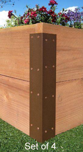 Raised garden bed corner brackets standard for 20 h - Raised garden bed corner brackets ...