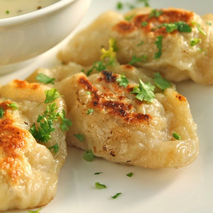 These potato and cheese pierogis are great as an appetizer or side dish - hearty, flavorful, and filling!