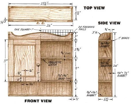 Woodworking plan for Bathroom Cabinet. Complete woodworking plans with detail descriptions can be found on my website: www.tedswoodworkplans.com