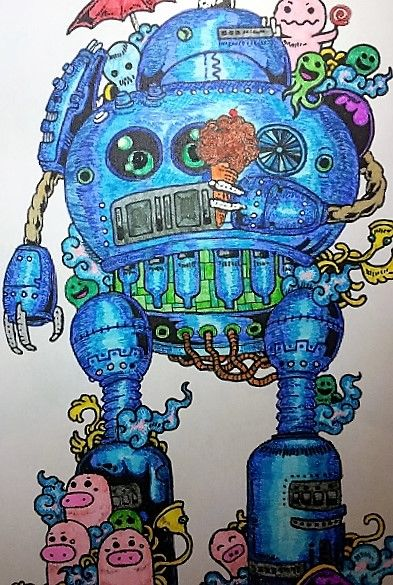 Kerby Rosane's robot design - my colouring