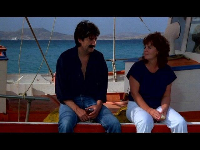 Shirley Valentine 1989 Comedy- Shirley in Greece with her new friend Kostas played by Tom Conti.