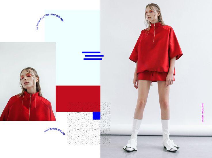 Stories Collective / Three Shades Of Red / Photography Olesya Asanova / Styling Marina Pamies / MakeUp & Hair Izzy Cammareri / Model Karolina @ Premier / Design Isabella Conticello