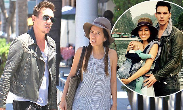 New dad Jonathan Rhys Meyers, 39, enjoyed some quality time with his lady love Mara Lane as the pair flashed the plastic in Beverly Hills on Wednesday.