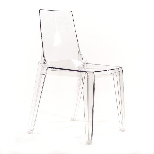 Chaise moderne en polycarbonate transparent - Ice - 4 Pieds : tables, chaises et tabourets