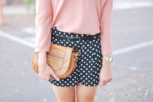 mixing brown, black and some pretty color: Ribbons Bows, Classy Style, Dreams Closet, Clothing, Style Inspiration, Feelings Pretty, Polka Pants, Beautiful Baby, Polka Dots Shorts