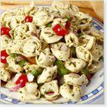 Salade de pâtes Tortellini aux Trois Fromages à la Grecque