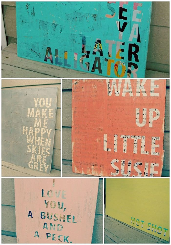 DIY: quotes on canvas @456party It is number 17 on the website. except instead of a painting background you have painted the background
