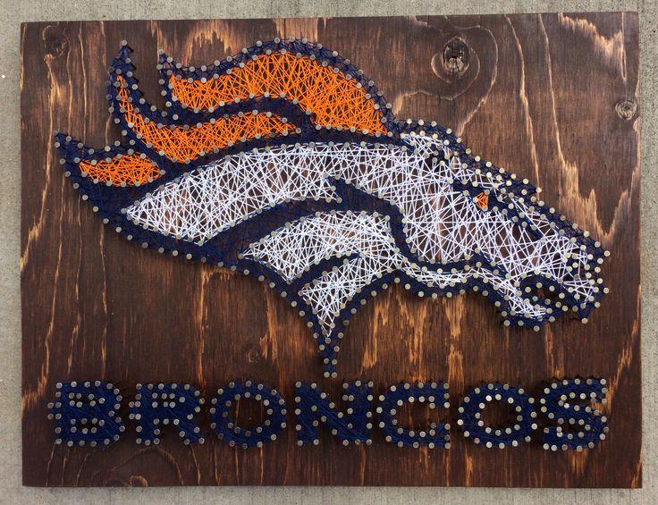 Denver Broncos String Art