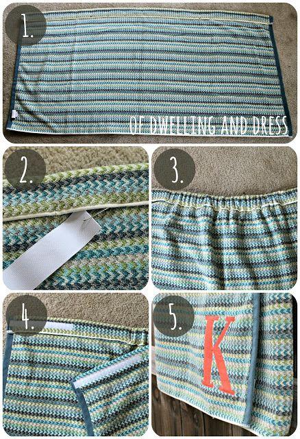 of Dwelling and Dress: DIY Towel Wrap