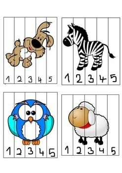 Puzzles with colorful images to practice numbers from 1 to 10. Cut the lines and, if needed, plastify the pieces to make it more appropriate for kids. Useful in kindergarten or at home. CONTENT -4 puzzles to practice numbers 1-5 -6 puzles to practice numbers 1-10 All images are from www.clipartpanda.com