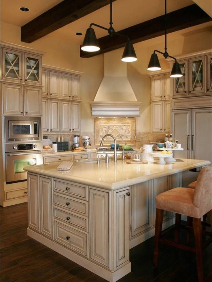 Island and cabinets lake house pinterest kitchens for Kitchen cabinets 51