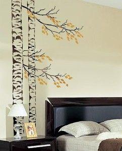 birch tree stencils | LARGE Tree Stencil Beautiful Birches by CuttingEdgeStencils | Shop ..