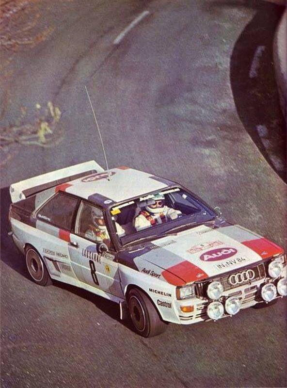 Audi Quattro. Pure 80's bliss!