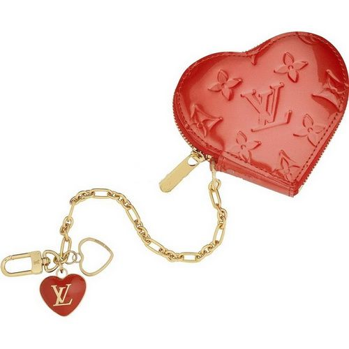 Louis Vuitton Monogram Vernis Heart Coin Purse M93658 Aoz